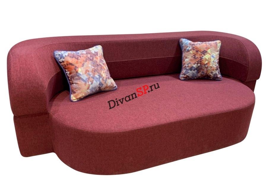 Раскладной бескаркасный диван со спальным местом красный