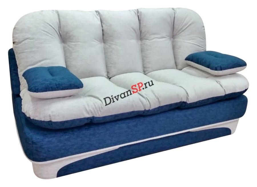 диван без каркаса Элис бело-голубой