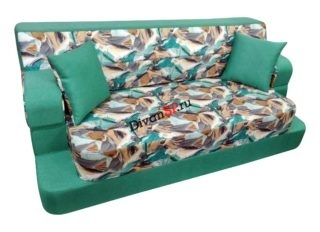 Бескаркасный диван Элис зеленый