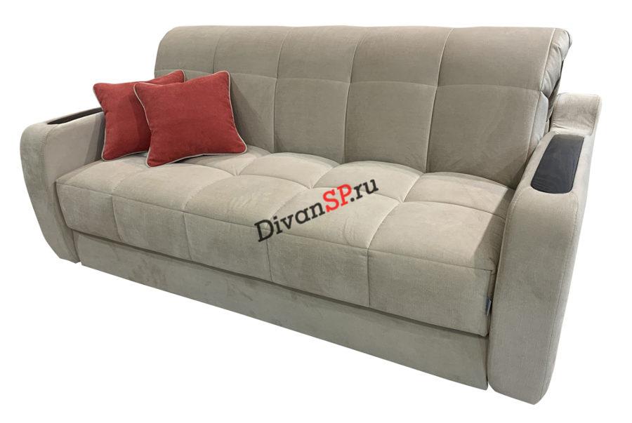 диван-кровать с деревянными накладками Меркурий