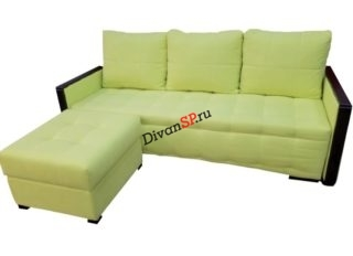 Малогабаритный диван-кровать с приставным пуфом Рондо-15