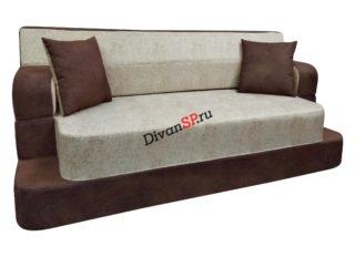 Бескаркасный диван Ирен коричневый