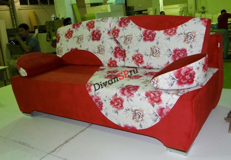 Яркий малогабаритный раскладной диван Рондо-12