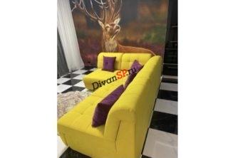 Модульный диван со спальным местом Бостон-37 желтый