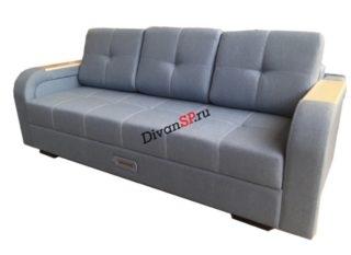 Прямой диван пантограф с шагающим подлокотником Леонардо-06
